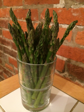 My beautiful bunch of asparagus